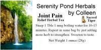 Joint and Chronic Pain Relief Herbal Tea Remedy