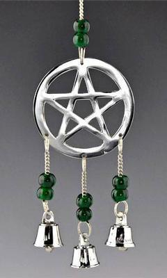 Pentacle in Chrome 9 inch Long