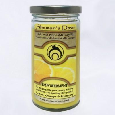 Shaman's Dawn Empowerment Glass Jar Candle