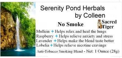 Serenity Pond Herbals Anti-Tobacco Smoke Blend